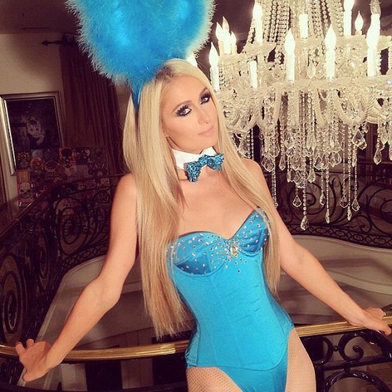 Paris Hilton de coelhinha da Playboy